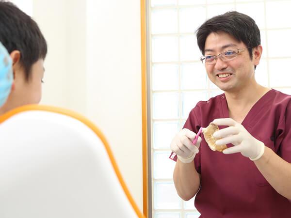 八千代市・村上の歯医者・歯科みどりかわ歯科のお子さんの予防歯科